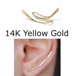 14K Yellow/Rose Gold Ear Crawlers/Climbers/Pins
